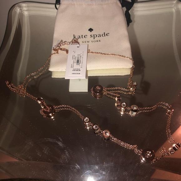 Kate Spade Rose Gold Long Necklace